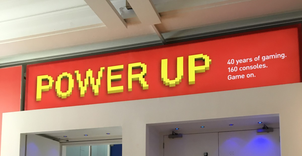 The Power Up Exhibit.  40 years of gaming in London.