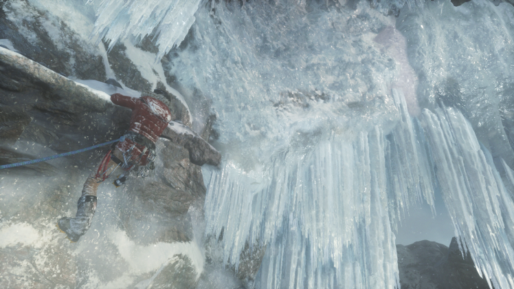 Ice and snow effects in Rise of the Tomb Raider