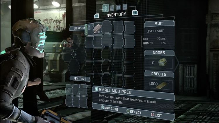 Dead Space Inventory management